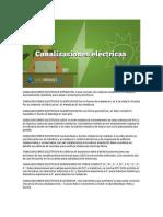 CANALIZACIONES ELECTRICAS DEFINICION