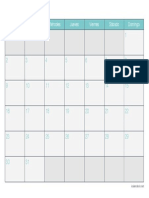 Calendario Mayo 2016 Turquesa