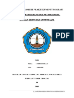Laporan Resmi II Praktikum Petrografi Indrii