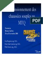 Dimensionnement Des Chaussees Souples Methodes Mtq Gb Dsl Fd