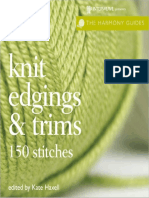 Harmony Guides - Knit Edgings & Trims
