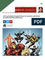 ¿Por Qué Algunos Superhéroes No Pueden Participar de Películas Marvel_Disney_ - Batanga