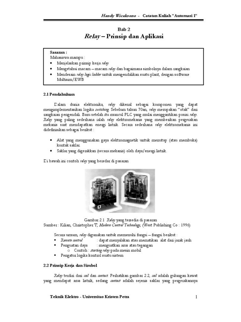 Modul Keseluruhan Automasi 1 Bab 2 Solid State Relay Circuit Diagram Gambar Skema Rangkaian Elektronika