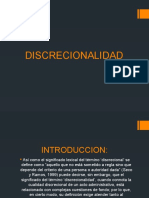 DISCRECIONAL DE LA LEY