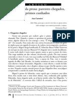CARNEIRO, Ana Os Rumos Da Prosa Parentes Chegados Primos Cruzados. Revista de Ciências Sociais, Fortaleza, v. 44, n. 2, jul/dez, 2013, p. 196-215