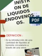 Administracion de Liquidos Endovenosos