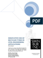 Innovative Use of Recycled Tyres in Civil Engineering Applic