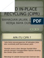 Cold in-place Recycling (Cipr)