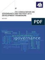 Final Report of the Global Thematic Consultation on Governance and the Post-2015 Development Framework