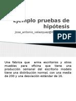 Ejemplo Prueba de Hipótesis