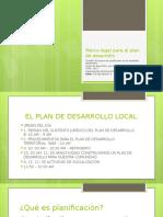 Marco Legal Para El Plan de Desarrollo