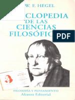 Hegel - Enciclopedia de Las Ciencias Filosoficas