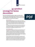 Developing a Product Strategy for Home Decoration
