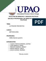 Mono Metodologia Prision Preventiva