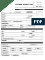 Formato de Inscripción Version Marzo 2016