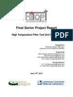 High Temperature Filter Test Unit Upgrades