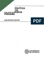 Teoría y Política Económica en Perú - Gonzales Izquierdo