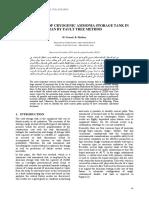 2012 Nemati Azad Univ Risk Analysis of Cryogenic Ammonia Storage Tank