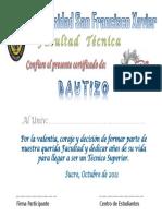Certificado de Bautizo