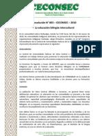 Resolución 3 - La Educación Bilingue Intercultural