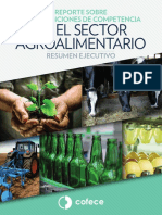 Reporte sobre las condiciones de competencia en el sector alimentario
