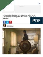 La Evolución Del Traje de Capitán América en El Universo Cinematográfico de Marvel..
