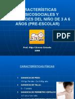 Caracteristicas Biopsicosociales y Necesidades Del Niño de 3 a 6 Años