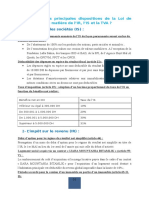 Dispositions de Loi de Finance 2016