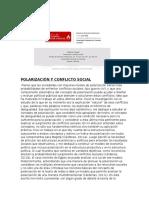 Polarización y Conflicto Social