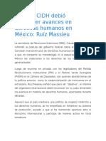 Informe CIDH Debió Reconocer Avances en Derechos Humanos en México