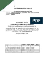 Especificaciones Técnicas Para Contratación_edificio Mexicano, Sector a. 10 06 2014