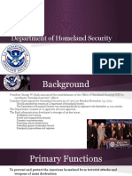 AP Gov- Department of Homeland Security