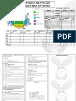 MAPA DOS SETORES - Estadio de Futebol Castelão