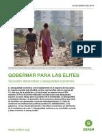 Gobernar Para Las Elites - Secuestro Democratio y Desigualdad Economica Oxfam