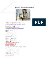 YUI Tokyo Lyrics Dan Indonesian Translation