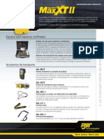 GasAlertMaxXTII AccessoriesDatasheet(6623 0 ES)