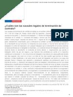 ¿Cuáles Son Las Causales Legales de Terminación de Contrato_ - Centro de Consultas. Dirección Del Trabajo
