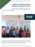 11-05-16 Puertos de México amplían su capacidad operativa a 370 Millones de toneladas de carga por año