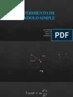 Experimento de Pendulo Simple