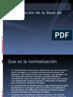 Normalizacion de La Base de Datos