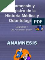 Historia clínica en odontología