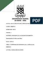 Fichamento - COMPÊNDIO DE INTRODUÇÃO À CIÊNCIA DO DIREITO- MARIA HELENA DINIZ.docx