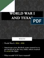 world war i and texas  1