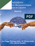 Neuropsi Manual e Instructivo