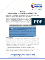 Manual Pre Registro Saber Pro
