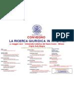 Convegno Ricerca Giuridica in Internet / Università Cattolica di Milano