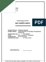Strategic Planning On BIZ Consultants