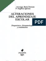 Alteraciones Del Aprendizaje Escolar. Juan e. Azcoaga (Et.al)[1]