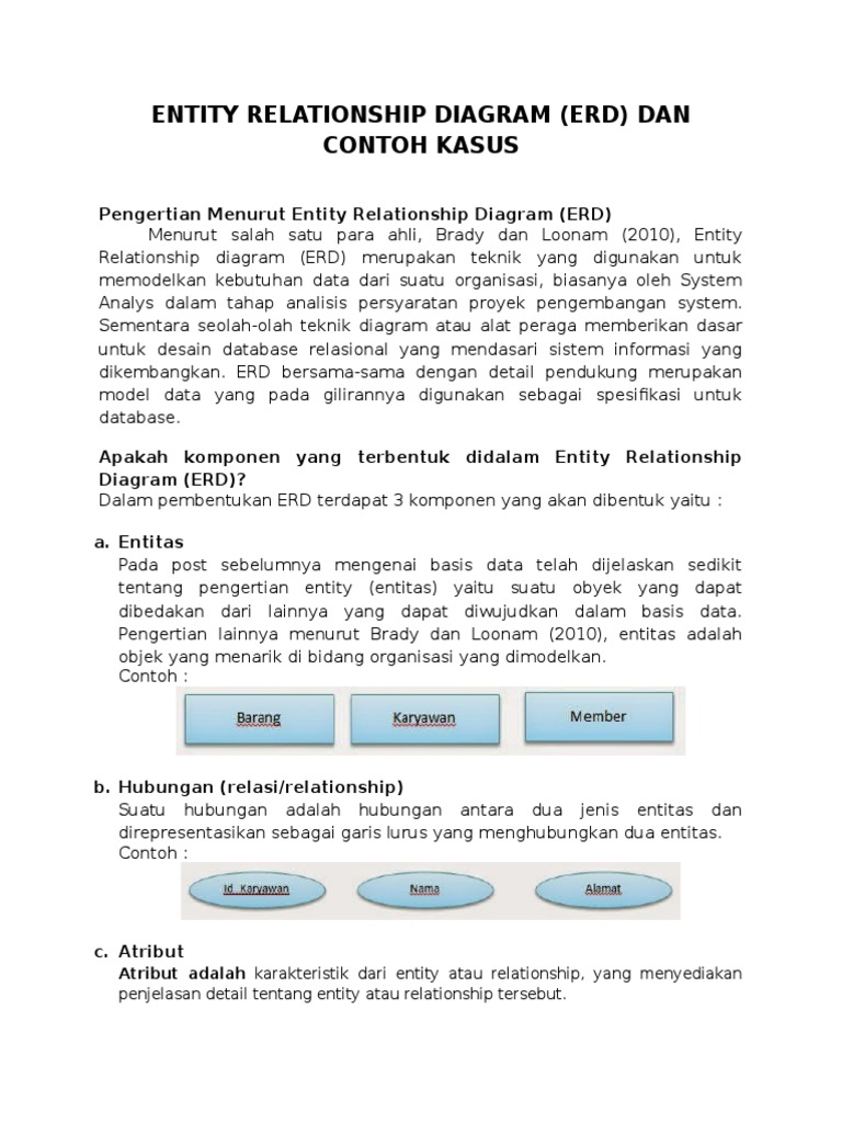 Entity relationship diagram contoh kasuscx ccuart Image collections