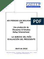 Asi piensan los bolivianos #143 Gallup International
